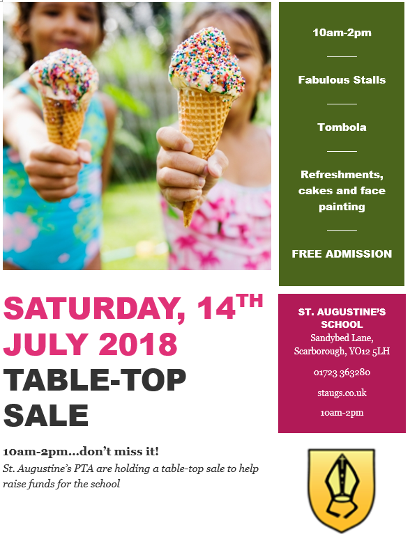 PTA Table Top Sale 14th July