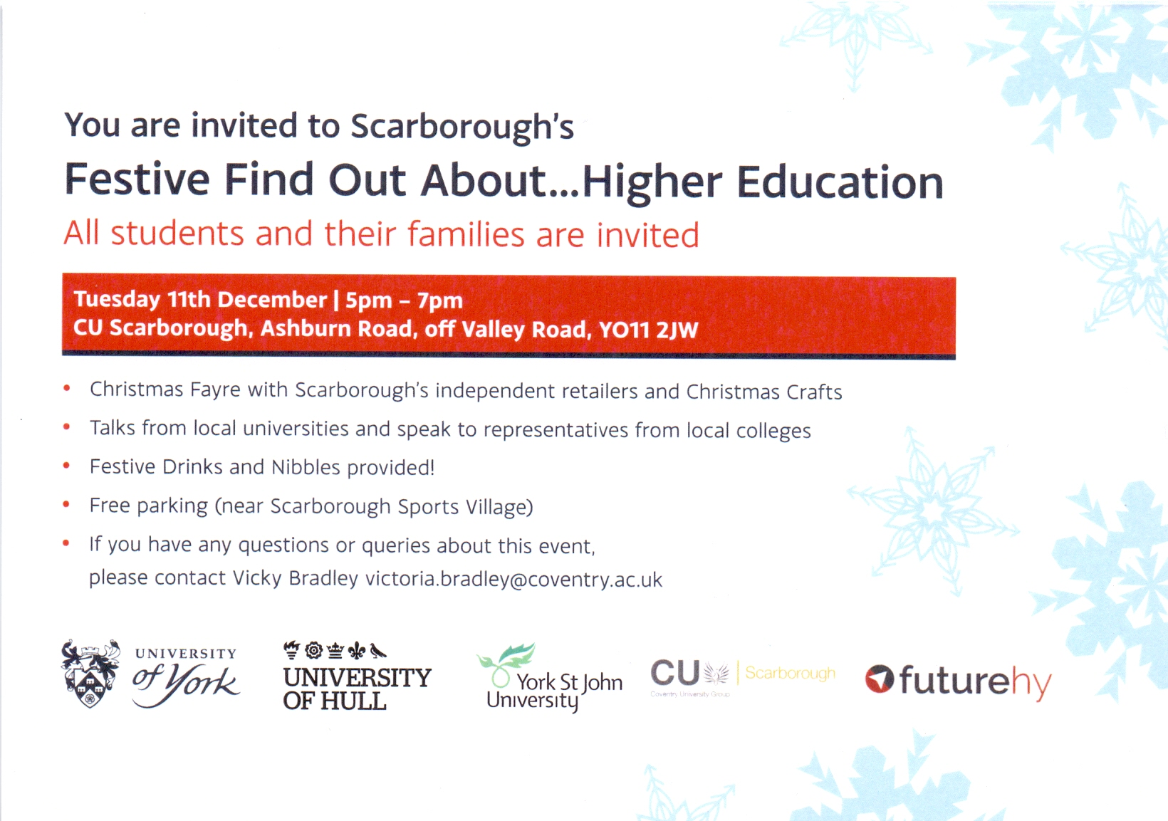 Festive Find out about… Higher Education