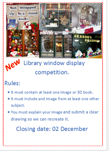 Library Window Display Competition