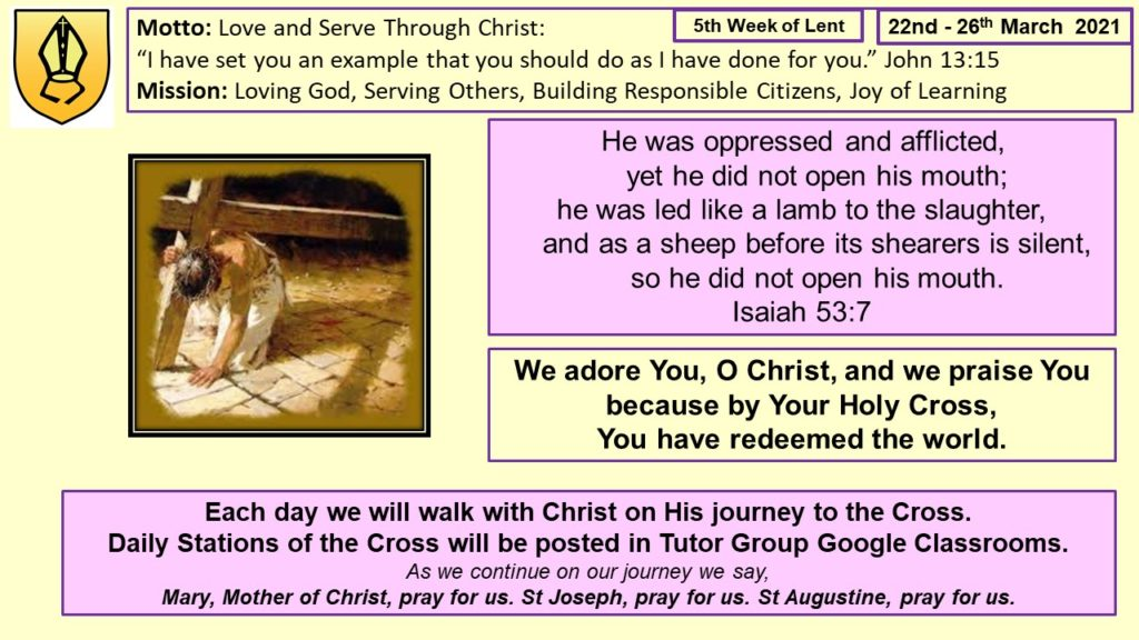 5th Week of Lent